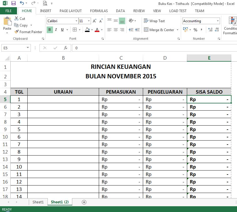 Belajar Pembukuan Di Microsoft Excel Canadiannix